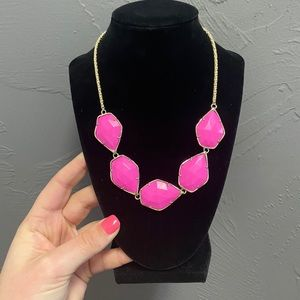 Kendra Scott Pink & Gold Statement Necklace